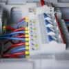 Распределительный электрощит на 22 линии нагрузки и ввод 7 кВт (32А)