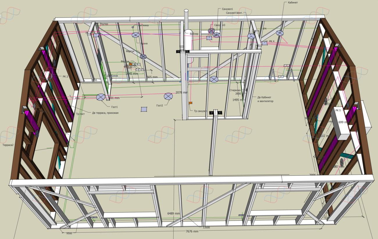 Проект и монтаж электрики дачного дома под ключ