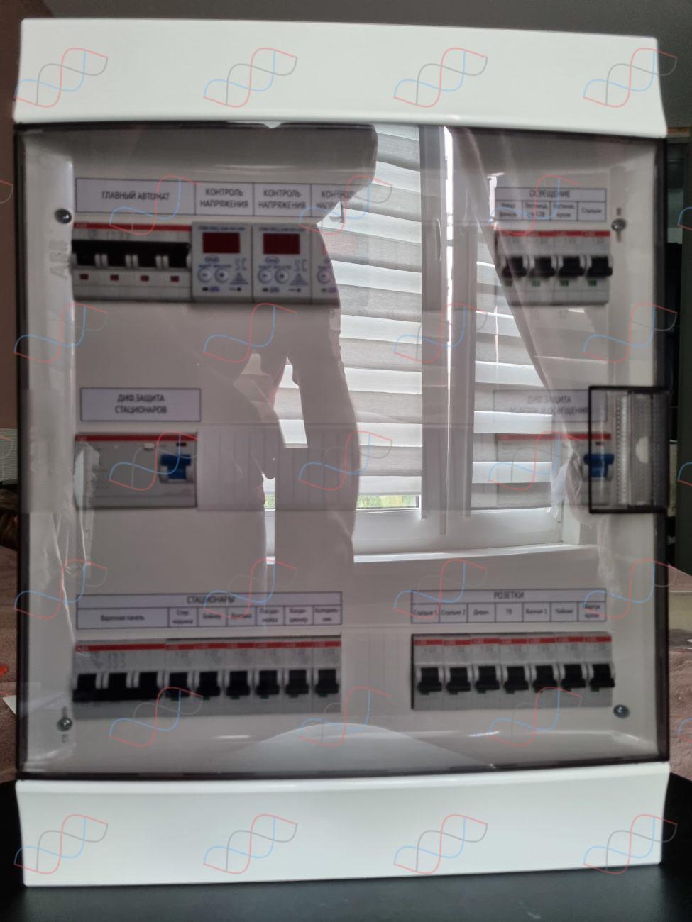 Трехфазный электрощит для квартиры